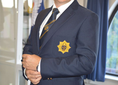 SPECIAL OFFER 'Firefighters 100' high quality blazer with gold badge - £100