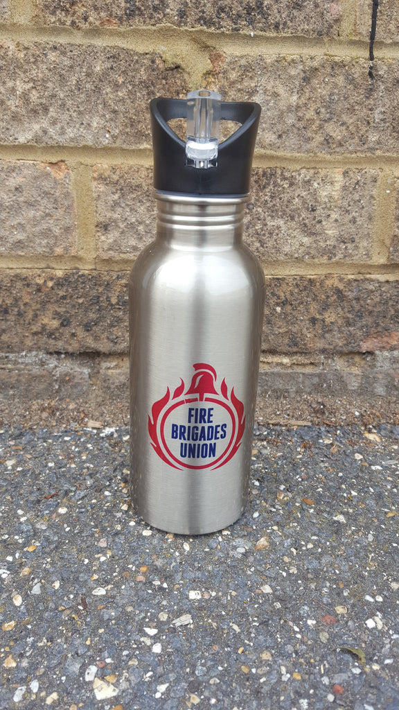 FBU Stainless Steel Water Bottle with Straw 600ml