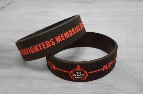 Firefighters Memorial Day wristband