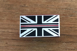 Thin Red Line Lapel Badge