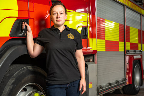 'Firefighters 100' Womens Polo