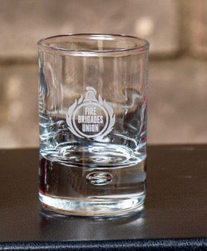 Engraved Shot Glass with Bubble Base