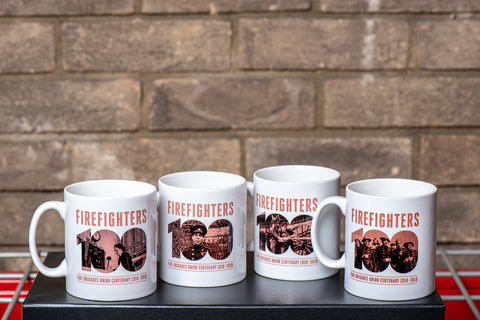Special Offer: Full set of collectable FBU Centenary Mugs featuring 'blitz period' photos