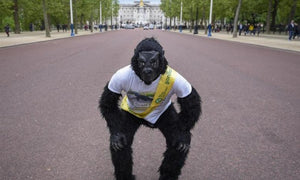 Mr. Gorilla Crawls London Marathon For Charity