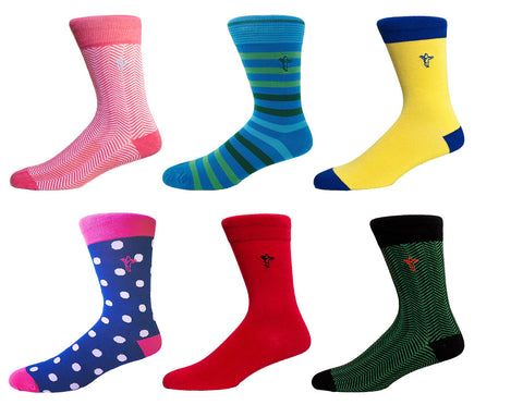 Colorful bamboo socks