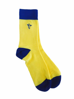 Banana Blues - Gorilla Socks Bamboo Cotton Colorful