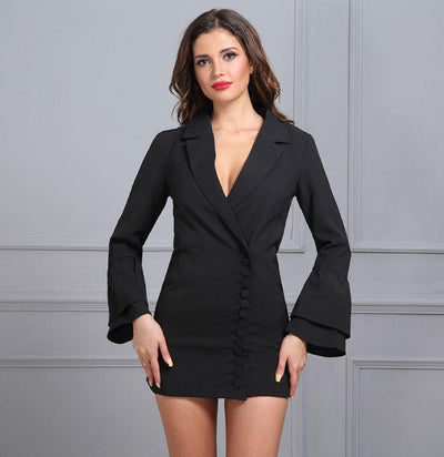 Times Square Asymmetrical Jacket Dress