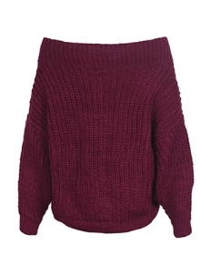 Honeycomb Off-the-Shoulder Sweater