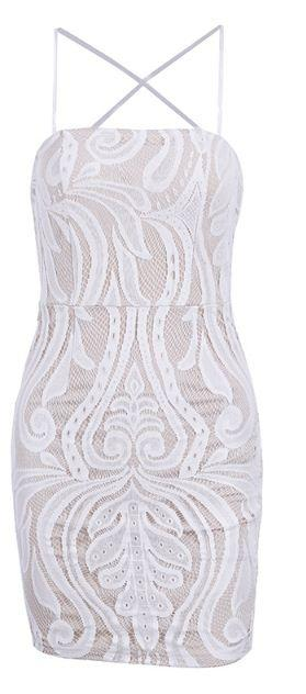 Tapestry Lace Mesh Dress