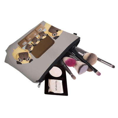 Pug Family Makeup & Brush Bag