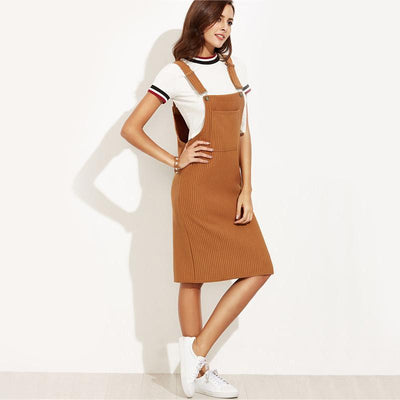 Role Model Ribbed Overall Dress