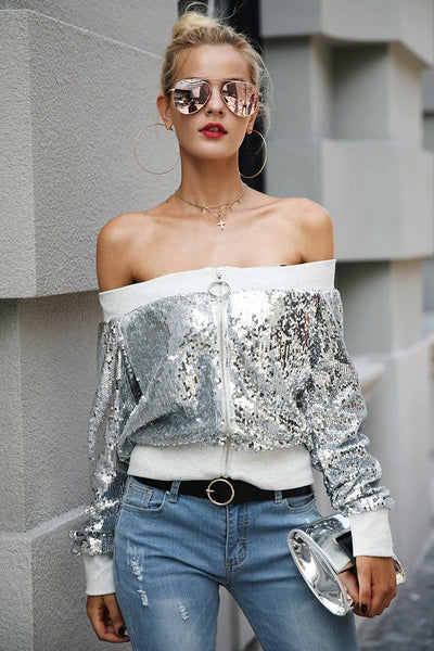Almost Famous Sequinned Top
