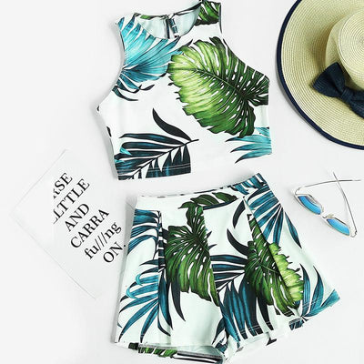 Passport Jungle Print Two-Piece Set