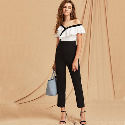 Fling Ruffled Cropped Jumpsuit