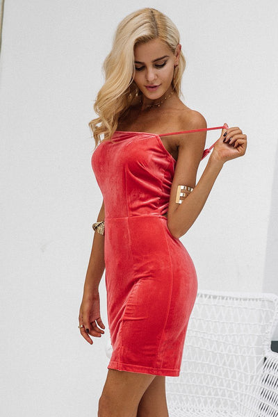 Farrah Velvet Open Back Dress