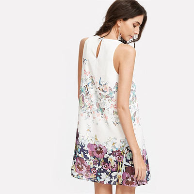 Wings Botanical Shift Dress
