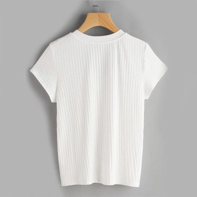 Palace Gates Ribbed Applique Top