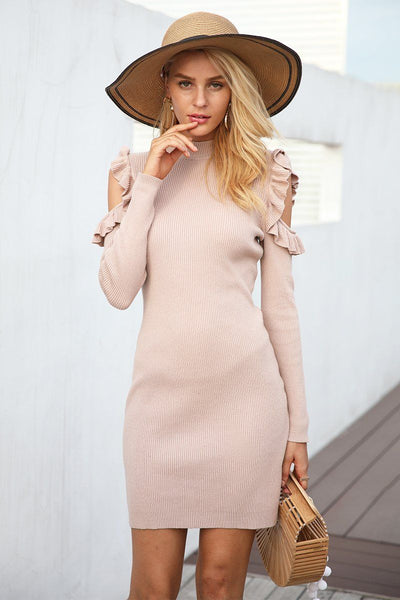Sundance Cold Shoulder Sweater Dress