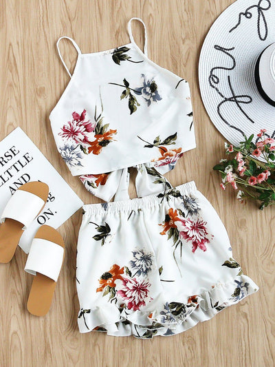 Getaway Floral Two-Piece Set