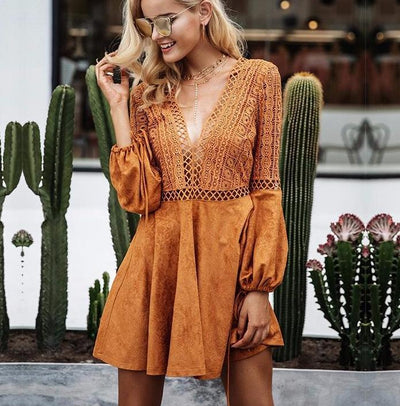Laced Off Deep Plunge Playsuit