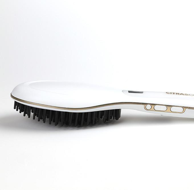 citra & co hair straightening brush white and gold