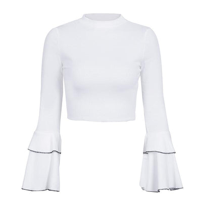 Limbo  Bell Sleeve Crop Top