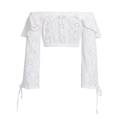 Filly Eyelet Lace Crop Top