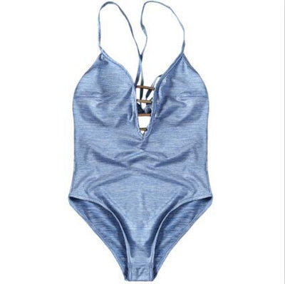 Hollow Out Halter Swimsuit