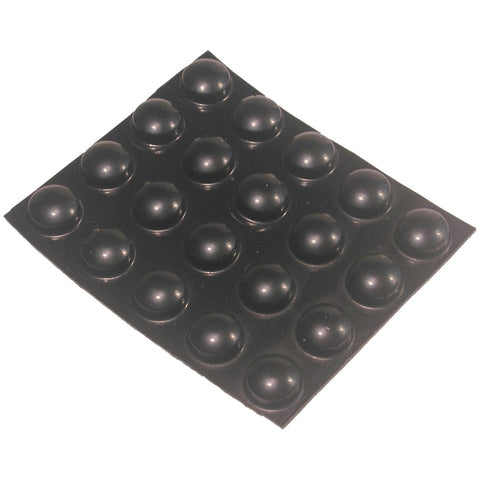 Bump Dots Black Round