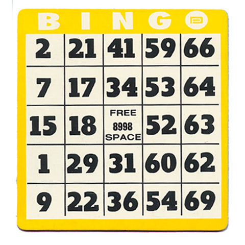Large Print Bingo Cards