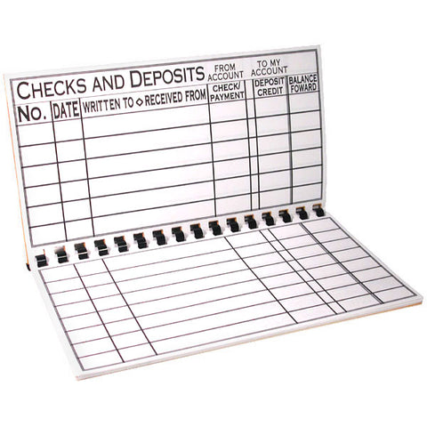 Giant Print Check Register