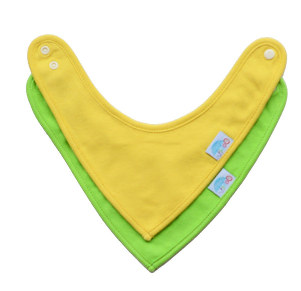 Cotton Bandana Bibs - 2 pack