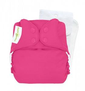 bright pink countess pocket nappy by bum genius