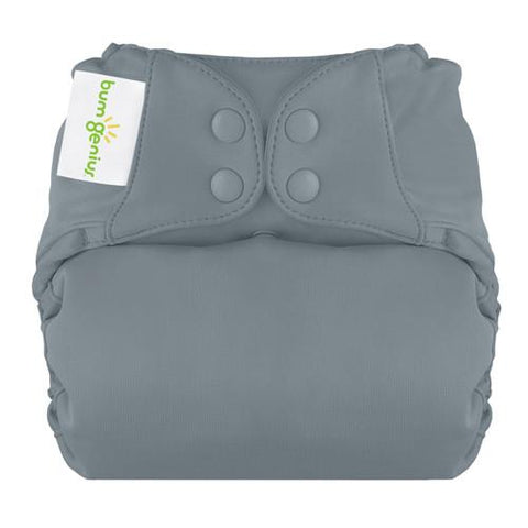 armadillo grey elemental organic cotton all in one nappy by bum genius