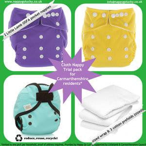 Carmarthenshire Cloth Nappy Trial Pack