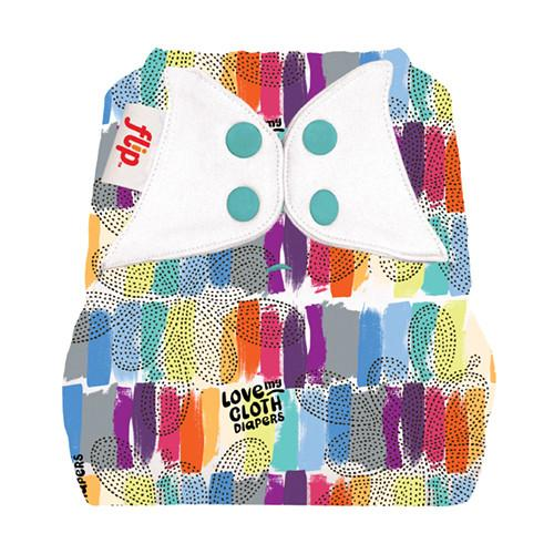 love multicoloured nappy cover by flip