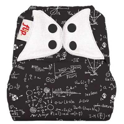 albert einstein inspired mathematical print nappy cover by flip with poppers