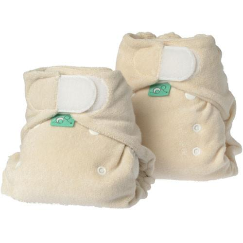 natural coloured bamboo fitted nappy by totsbots