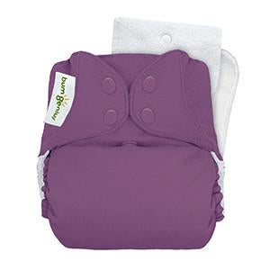 grape jelly coloured pocket nappy by bum genius