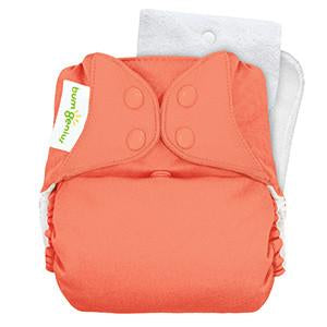 kiss peach coloured pocket nappy by bum genius