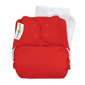 pepper bright red pocket nappy by bum genius