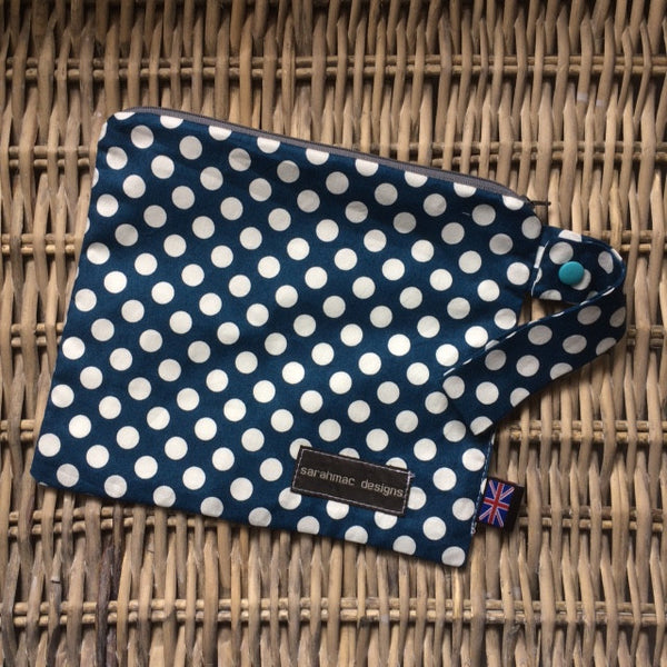 NAVY POLKA - single pocket sarahmac bag