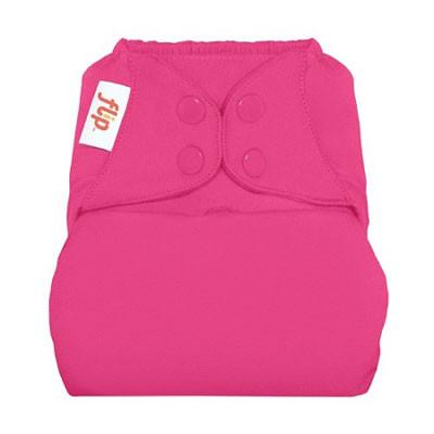 countess bold pink nappy cover with poppers by flip