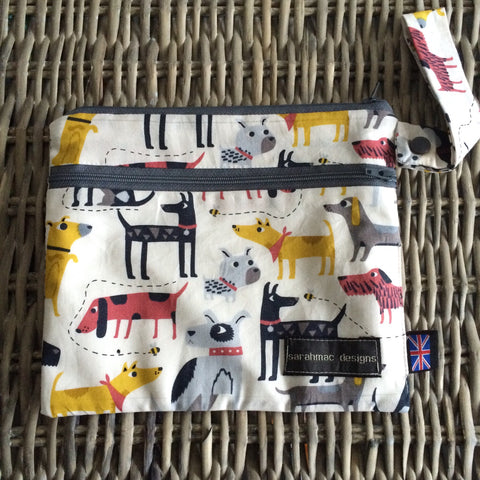 PATCH DOG PRINT - double pocket sarahmac bag