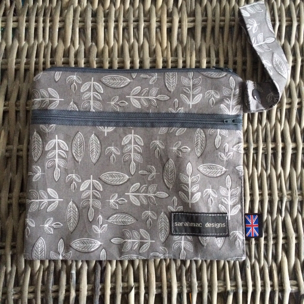 GREY LEAF - double pocket sarahmac bag