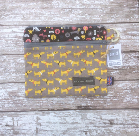 DOG MIX & MATCH bandana/black patch - double pocket sarahmac bag