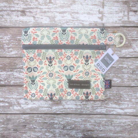 CREAM FLORAL - double pocket sarahmac bag