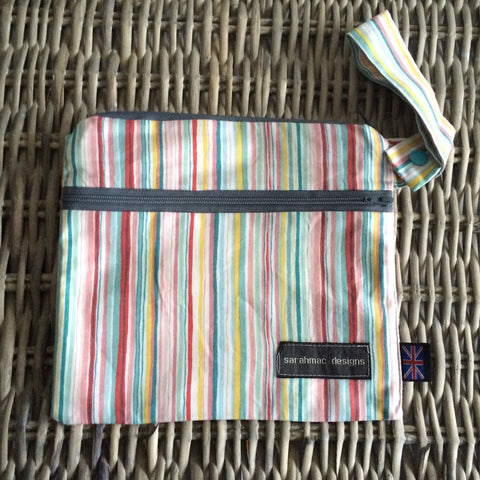 CANDY STRIPE - double pocket sarahmac bag