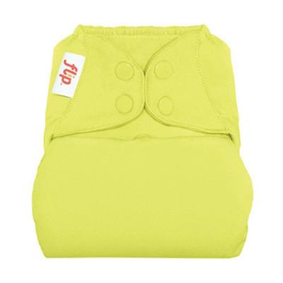 jolly a luminous yellow think of a tennis ball nappy cover with poppers by flip