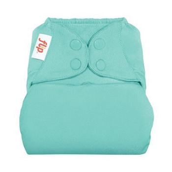 mirror a soft turquoise sea colour nappy cover with poppers by flip